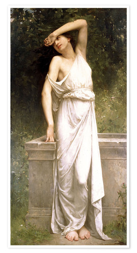 Premium poster A Classical Beauty by a Well