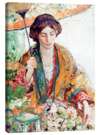 Canvas print  Woman with Parasol - Richard Edward Miller