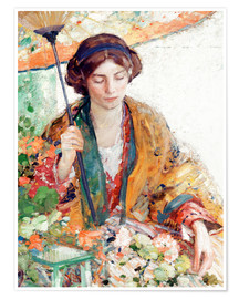 Premium poster  Woman with Parasol - Richard Edward Miller
