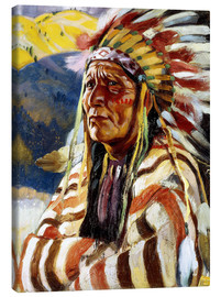 Canvas print  Chief Thunder Cloud - Walter Ufer