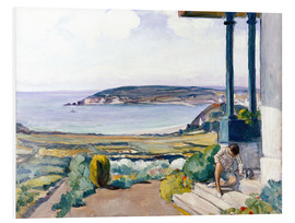 Foam board print  The Garden on the Morgat Bay - Henri Lebasque