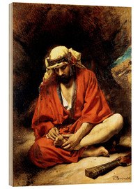 Wood print  An Arab plucking a Thorn from his Foot - Leon Joseph Florentin Bonnat