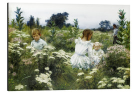 Aluminium print  Among the Wildflowers - Charles Courtney Curran