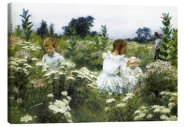 Canvas print  Among the Wildflowers - Charles Courtney Curran