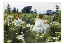 Foam board print  Among the Wildflowers - Charles Courtney Curran