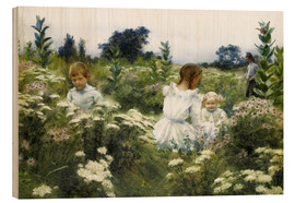 Wood  Among the Wildflowers - Charles Courtney Curran