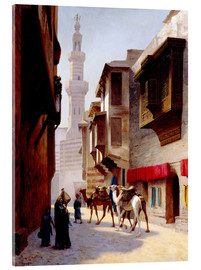 Acrylic print  A street in Cairo - Jean Leon Gerome