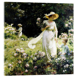 Acrylic print  Among the Laurel Blossoms - Charles Courtney Curran