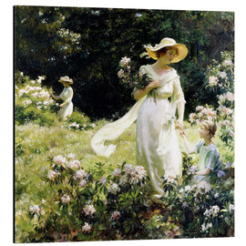 Charles Courtney Curran - Among the Laurel Blossoms