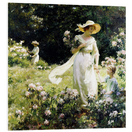 Foam board print  Among the Laurel Blossoms - Charles Courtney Curran