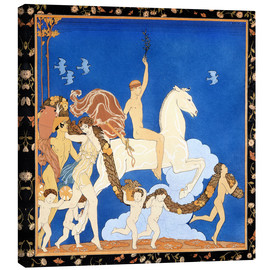 Canvas print  The white horse - Georges Barbier