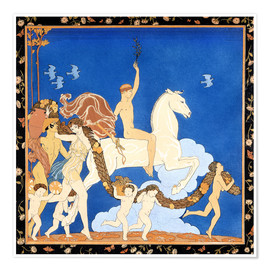 Premium poster  The white horse - Georges Barbier