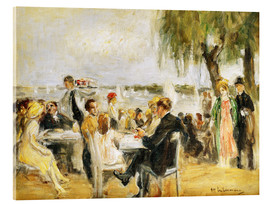 Acrylic print  Garden Cafe on the Elbe - Max Liebermann