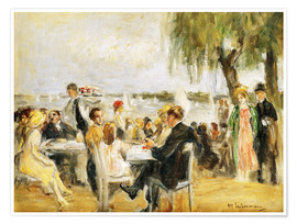 Poster Garden Cafe on the Elbe