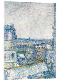 Acrylic print  View from the Artist's Window, Rue Lapic - Vincent van Gogh