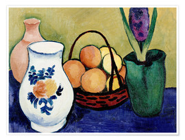Premium poster The White Jug with Flower and Fruit
