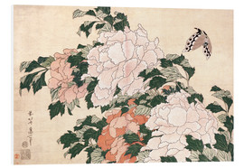 Forex  Peonies and a butterfly - Katsushika Hokusai