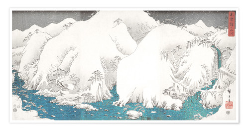 Premium poster Mountains and Rivers of Kiso