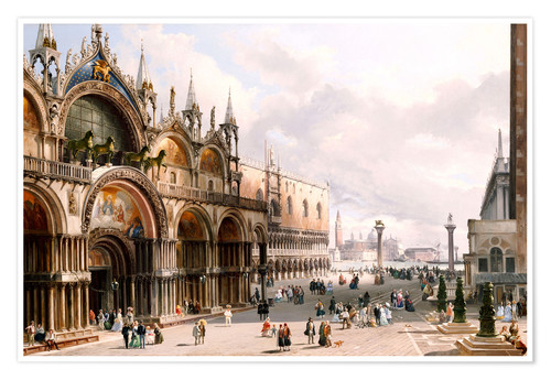 Premium poster The Basilica di San Marco and the Doge's Palace in Venice
