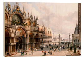 Wood print  The Basilica di San Marco and the Doge's Palace in Venice - Carlo Grubacs