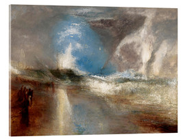 Acrylic print  Rockets and blue lights warn steamboats before shallows - Joseph Mallord William Turner