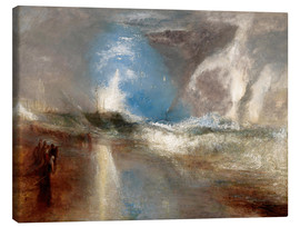 Canvas print  Rockets and blue lights warn steamboats before shallows - Joseph Mallord William Turner