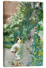 Canvas print  In the garden of Alhambra - Anders Leonard Zorn