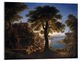 Acrylic print  Castle on the River - Karl Friedrich Schinkel