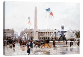 Canvas print  Place de la Concorde, Paris - Ulpiano Checa y Sanz