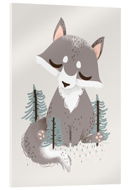 Acrylic print  Animal friends - The wolf - Kanzi Lue