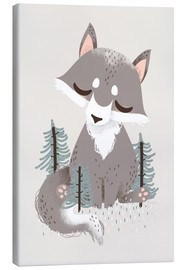 Canvas print  Animal friends - The wolf - Kanzi Lue