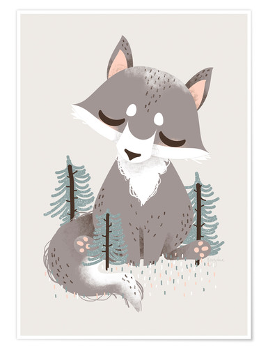 Premium poster Animal friends - The wolf