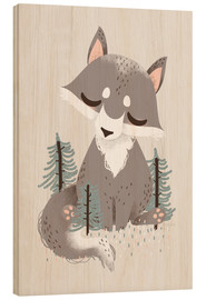 Wood  Animal Friends - The Wolf - Kanzi Lue