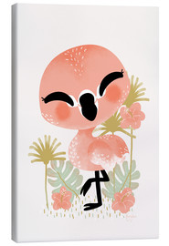 Canvas print  Animal Friends - The Flamingo - Kanzilue