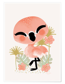 Premium poster  Animal Friends - The Flamingo - Kanzilue