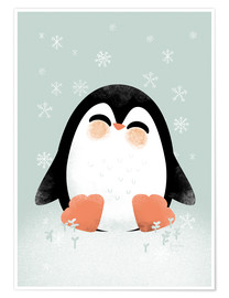 Premium poster  Animal Friends - The Penguin - Kanzilue