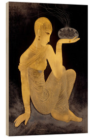 Wood  Perfume girl with a censer - Jean Dunand