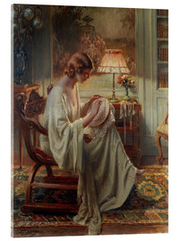 Acrylic glass  A Lady Sewing in an Interior - Delphin Enjolras