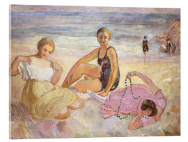 Acrylic print  Three Women on the Beach - Henri Lebasque