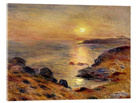 Acrylic glass  The Setting of the Sun at Douarnenez - Pierre-Auguste Renoir