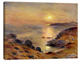 Canvas  The Setting of the Sun at Douarnenez - Pierre-Auguste Renoir