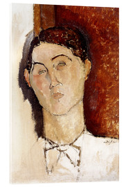 Acrylic glass  Head of a Young Man - Amedeo Modigliani