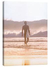 Canvas print  Lonely surfer on the beach