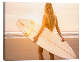 Canvas  Blonde Surfer