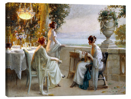 Canvas print  A Soiree on the Terrace - Delphin Enjolras