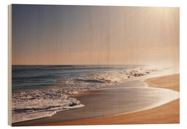 Wood print  Sunlit beach