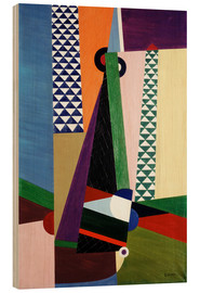 Wood print  Composition geometry - Georges Valmier