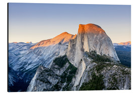 Aluminium print  Half Dome at sunset - Yves Marcoux