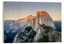Wood print  Half Dome at sunset - Yves Marcoux
