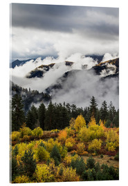 Acrylic print  Clouds in the valleys - Peter Langer